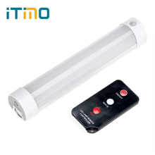 iTimo Camping Hiking Lamp with Remote Control Rechargeable Magnetic Repair Light LED SOS Emergency Light Portable Lantern 5 Mode(China)