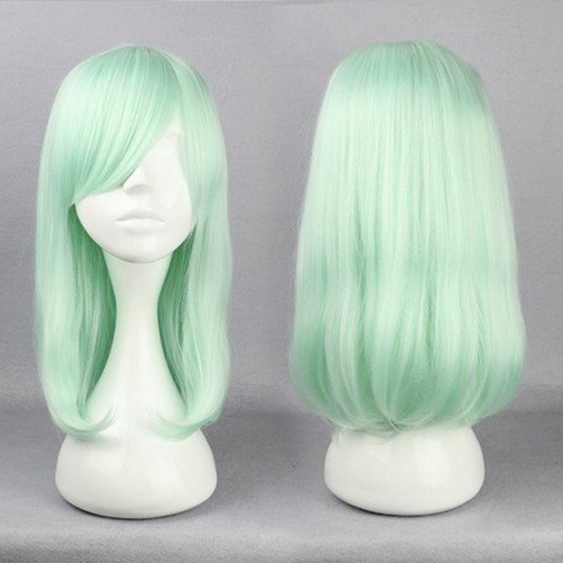 HAIRJOY Anime Harajuku Lolita Cosplay Wigs 45cm Long Straight  Hair Haircut Light Green Cosplay Wig  Fashion Hairstyles <br><br>Aliexpress