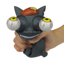 EMS Wholesale 30Pieces Pop Out Eyes Stress Reliever / Mad Cat Bulging Eyes Stress Balls