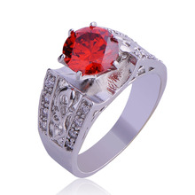 Engagement Rings Cubic Zirconia Rings Luxurious Red Jewelry Wedding Ring Women Ring For Party Buy A Gift size 6-10(China)