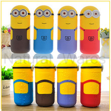 Lovely Minions Vacuum Bottles Cup Travel Office Students Funny Cups Bottle Mug flask 250ml Hight Quality Child Gifts