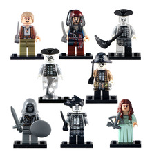 8pcs/lot PG8048 Pirates of the Caribbean Lesaro Captain Jack Edward Mermaid Davy Jones Buildng Blocks Baby Toy Gifts(China)