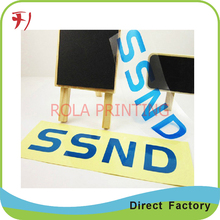 Customized promotional self adhesive tear resistant colorful logo removable PE label(China)