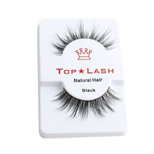 1Pair Handmade Sexy Women Black Luxurious 100% Real Mink Natural Thick Eye Lashes False Eyelashes Extension Cosmetic Tools D-6(China)