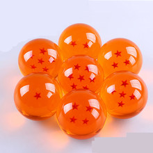 7pcs Dragon Ball crystal balls 7cm set Z figura 3D star super big resin ball high quality Goku collect free shipping by DHL