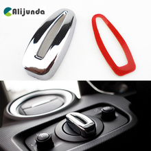 Car styling Headlight Switch Knob Cover Decorative Sequins sticker For Ford Fiesta Ecosport 2009 2010 2011 2012 2013 2014 2015(China)