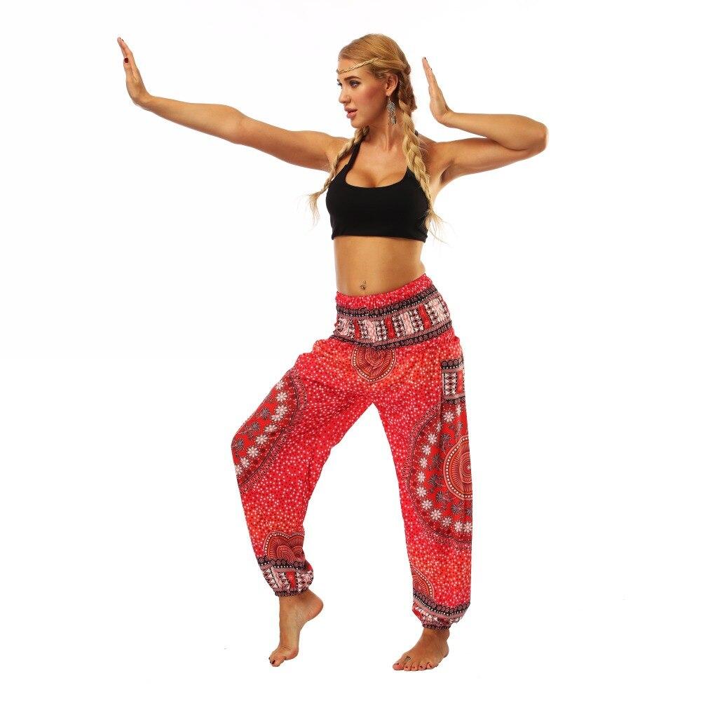 TL006- Red round circle wide leg loose yoga pant leggings (1)