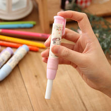 1pcs Cute Designer Students Pen Shape Eraser Rubber Stationery Kid Gift Toy School Supplies 3 Color
