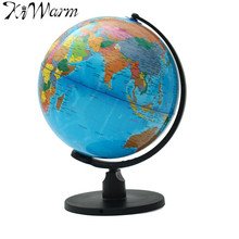 25cm World Globe Map With Swivel Stand Map of Earth Geography Study Tool Home Office Bookcase Shop Desktop Decorations Gift