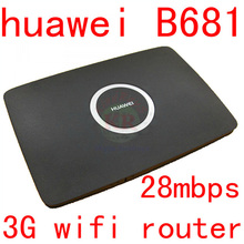 Unlocked huawei B681 3G wireless Router HSPA wifi router 21Mbps 3G dongle WCDMA 3g wifi router cpe car Wifi PK B260a B683 B970b
