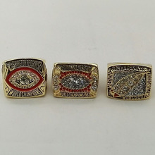 Wholesale Alloy Rings Sets for Replica 3 Years Sets 1982/1987/1991 Washington Redskins Super Bowl Championship Ring(China)