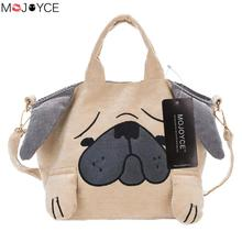 MOJOYCE Cartoon Dog Printed Women Messenger Bags Student Canvas Tote Shopping Handbags sac a main Bolsa Feminina(China)