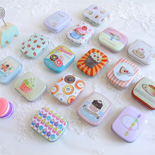 12Piece/lot Mini Tin box Cute Kawaii cake Cartoon Case Portable Home Supplies Home Storage Organizer for Jewelry Kids Toy Gift