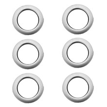 6pcs Home Decoration Round Shape Curtain Accessories Plastic Rings Eyelets For Curtains
