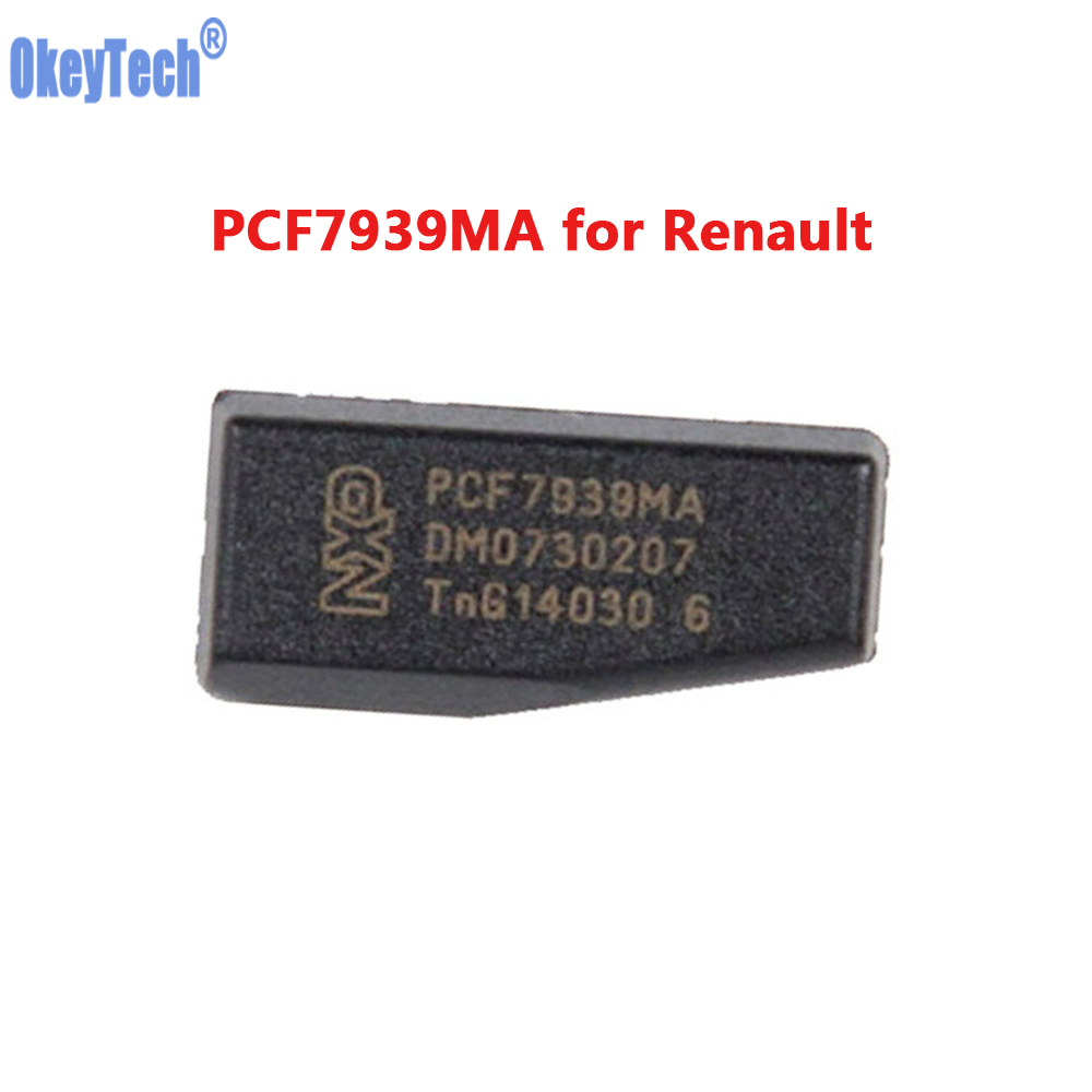 OkeyTech PCF7939MA PCF7939 TP39 Original Car Key Chip Transponder Blank Chips for Renault Auto Car Key Ceramics Chip(China)