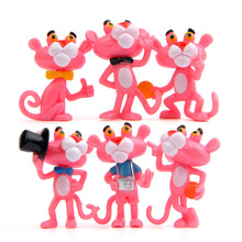 6pcs/lot toys sweetheart pink leopard hand doll diy wild micro landscape gardening Decoration action & toy figures dolls toy(China)
