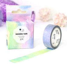1.5*7M Watercolor washi tape DIY decorative scrapbooking masking tape adhesive label sticker tape stationery
