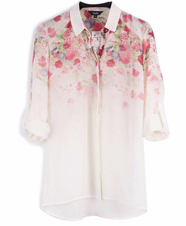 Рубашка в цветы фото