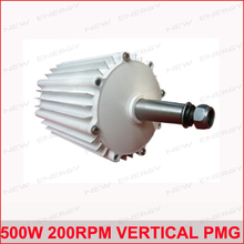 500w 200rpm low speed vertical permanent magnet ac PMG alternator/ low rpm alternator(China)