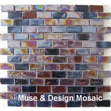 Retro Brwon Glazed Glass Mosaic tile for Fireplace Kitchen Backsplash bathroom border stair porch wall tile floor tile Outdoor(China)