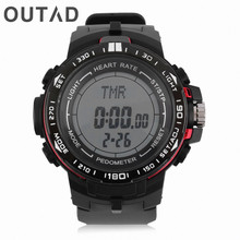 OUTAD LCD Display Heart Rate Monitor With Pedometer Calories Men Wrist Watches Counter Fitness Sport 5 Colors Gift For Him