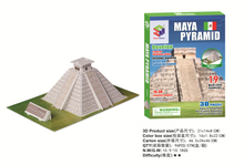 Hot sales jigsaw puzzle Maya Pyramid Egypt model 3D puzzle Educational toys three-dimensional puzzles for children and adult(China)