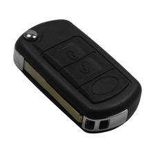No Logo Remote 3 Buttons Flip Key Shell fit for LAND ROVER Range Rover Sport LR3 Discovery Case Fob 3 BTN