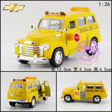 Brand New KiNSMART 1/36 Scale USA Chevrolet School Bus Diecast Metal Pull Back Car Model Toy For Gift Collection Kids