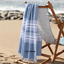 New 2017 Personalized Customized Turkish Towel--Cotton Embroidery Towel Striped Special Name Towels for Friends Family 70*140cm