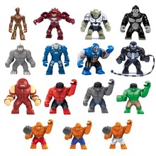 Mini Hulk Buster Green Goblin Groot Rihno Juggernaut Darkseid Gorilla Grood Mark IGOR Action Figure Assembly Building Toys