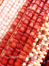 6*9MM 84Pcs Red Tulip Shape Natural Coral Loose Strand Stone Bead Jewelry Beads Findings