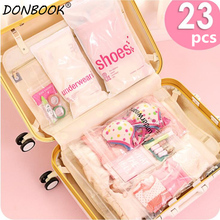 Donbook 23pcs/set Storage Bags Seal Pouch for Sundries Visible Small Vacuum Organizer for Accessories 9509