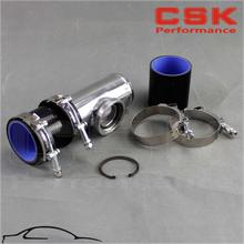 "3""inch or 76mm SSQV SQV Blow Off Valve Adapte BOV Turbo Intercooler Stainless Steel Pipe + Black Silicone +Clamps(China)"