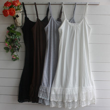 Summer Dress Spaghetti Strap 3XL 4XL Plus Size Mori Girl Women Sexy Lolita Tunic Mini Sexy Lace Dress Maxi White Black Clothes()