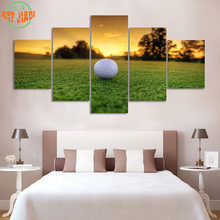 4 Piece/set or 5 Piece/set Canvas Art Golf Course BALL ON TEE HD Canvas Paintings Decoration For Home Wall Art Prints Canvas B9(China)