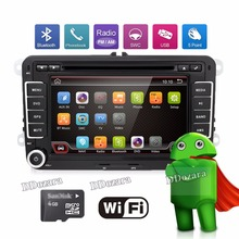 3G Quad Core 2 din Android 6.0 Car DVD player for VW Volkswagen GOLF 5 Golf 6 POLO PASSAT SKODA CC JETTA TIGUAN TOURAN GPS(China)