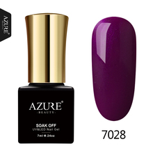 AZURE BEAUTY Purple Gel Varnish Nail Polish For Nail Design Semi Permanent Manicure Azure Nail Gel Polish Hybrid Gel Nail Paint(China)