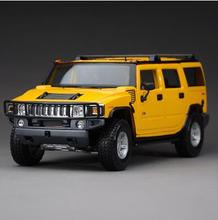 Hummer H2 1:18 Maisto Toy SUV jeep alloy car model diecast Military off-road vehicles H1 original boy Collection