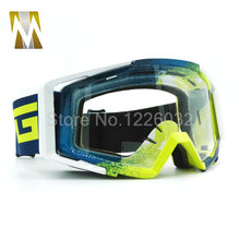 New Goggles Tinted UV Stripe Motorcycle Goggles Motocross Bike Cross Country Flexible Goggles