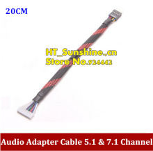 PC DIY 10Pin Female to 9Pin Male Audio Adapter Cable 5.1 & 7.1 Channel For Creative Sound Card Connection HOST Case Front Panel