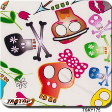 TAOTOP TSKY175 0.5m*2m colorful cartoon skull hydrographic film water transfer film