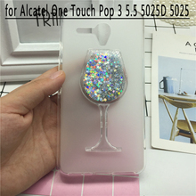 Buy Glitter Quicksand Phone Cases Alcatel One Touch Pop 3 5.5 5025D 5025 Case Bling Cute Srtars Soft Silicon Back Cover 3D Capa for $3.57 in AliExpress store