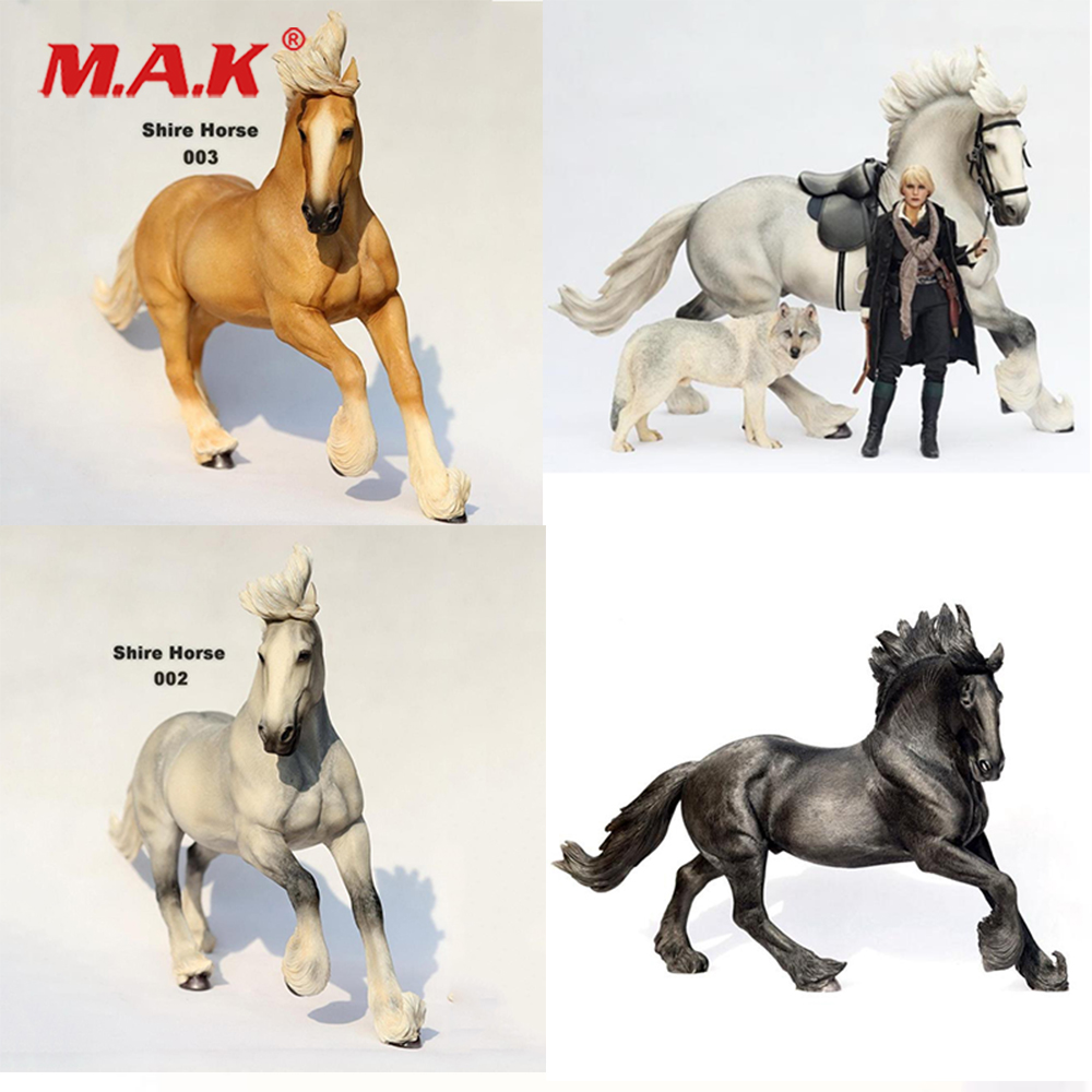 "1//12 Scale Scene Accessories Model Horse PVC Animal 2 Colors F 6/"" Doll Figures"