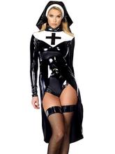 2017 Sexy Saintlike Seductress Sultry Costume Woman Halloween Nun 2016 Unique Design Cosplay Costume W850640