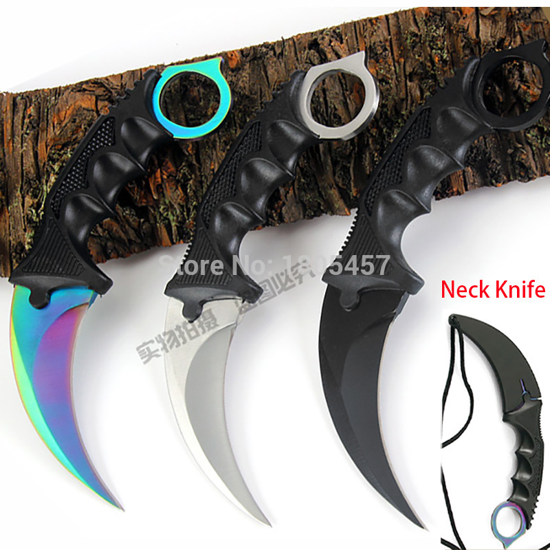 CS GO Counter Strike Karambit Knife handmade hunting knives Fighting Claw Knife tactical survival pocket Neck knife camping tool<br><br>Aliexpress