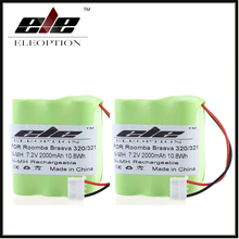 2x 2000mah Rechargeable Battery For iRobot Braava 320 321/Mint 4200 4205 Floor Cleaner Robot 4408927 US(China)