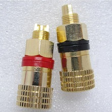 A pair red+black Banana connector Gold-plated Banana plug sockets Copper Speaker Terminals Connector(China)