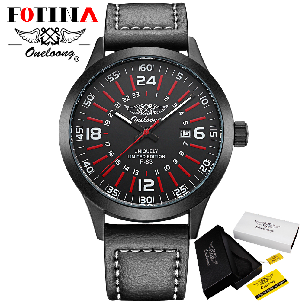 Fotina HK Brand ONELOONG Relogio Masculino Men Watch Leather Quartz Watches Military Watch Male Business Clock Casual Watches<br><br>Aliexpress