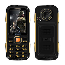 Original KUH T998 rugged mobile phone with mp3 mp4 power bank shockproof dustproof bluetooth 3.0 flashlight FM no need earphone(China)