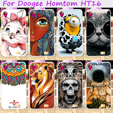 Soft TPU Mobile Phone Covers For Doogee Homtom HT16 Cases Covers DIY Painted Cool Cartoon Pattern Cell Phone Bags Housings